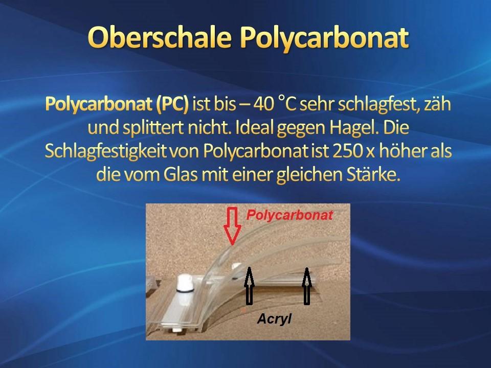 Lichtkuppel Oberschale Polycarbonat, IDEAL GEGEN HAGEL